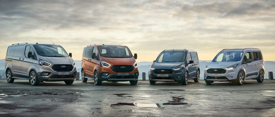 Novos Ford Tourneo e Transit Connect Active com Estilo Refrescado